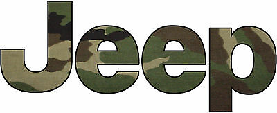 Jeep Camo Decal/Sticker 1X3 FREE SHIPPING!!
