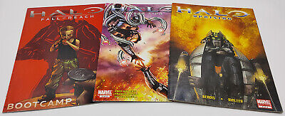 Halo Marvel Comics Lot of 3 Blood Line #2 Uprising #2 Fall of Reach: Bootcamp #1