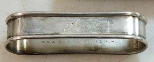 "Vintage Gorham Sterling Silver Napkin Ring ""Jo"" name engraving"