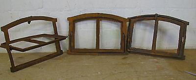 Wie 100 Jahre alt !! Kleine Gussfenster Stallfenster, mit Flügel  Spiegel, Tür