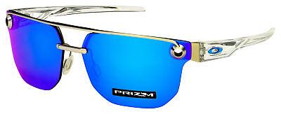 Oakley Chrystl Sunglasses OO4136-0867 Satin Chrome   Prizm Sapphire (Chrome Lens Sunglasses)