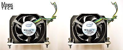 Heatsink w/Fan LOT OF 2! Intel BXSTS100A for 2-Socket Server/Workstation LGA1366