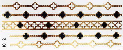 lash Klebe Temporary 2teile Armband Hals Kette Fuß WOW H12 (Hals Tattoos)