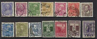 AUSTRIA SC# 111a//123, USED, LOT 1-7-82