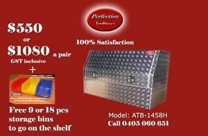 New ATB-1458H marine grade aluminium checkerplate ute toolbox Brisbane City Brisbane North West Preview