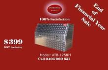 EOFY sale 3/4 open door aluminium checkerplate toolboxes Everton Hills Brisbane North West Preview