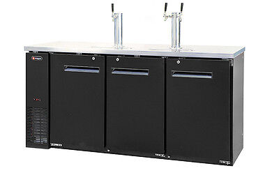 Kegerator Commercial 3 Keg Beer Cooler Refrigerator - 3 Faucet - No Dispense Kit