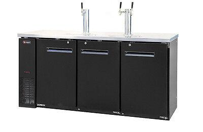 Kegerator Commercial 3 Keg Beer Cooler Refrigerator - 3 Fauc