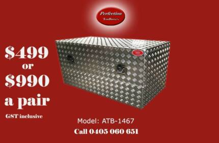New heavy duty 140x60x70cm aluminium checkerplate toolboxes Everton Hills Brisbane North West Preview