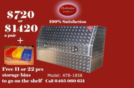 New heavy duty 1800x530x820 aluminium checkerplate toolboxes Everton Hills Brisbane North West Preview