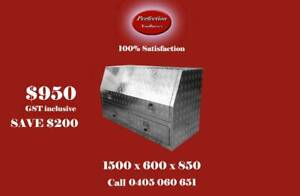 New high side aluminium tool box with 2 large drawers