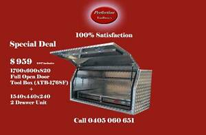 Special deal 1700Lx600Wx820H aluminium toolbox w/a 2 drawer unit Brisbane City Brisbane North West Preview
