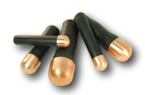 5 Piece Lead Filled Bopper Set - Copper Billets, Flint knapping tools, arrowhead
