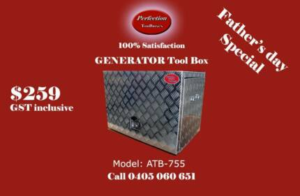 Father's day special aluminium checkerplate GENERATOR Tool Boxes Everton Hills Brisbane North West Preview