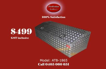 New top quality 1800x600x500 aluminium checkerplate toolboxes Everton Hills Brisbane North West Preview