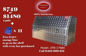 New aluminium checkerplate tool box high side 3/4 door ATB-1768H Brisbane City Brisbane North West Preview