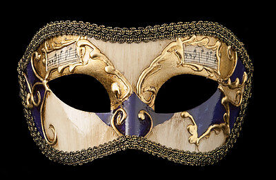 Mask from Venice Colombine Golden Violet-Costume-Party-Bal- 1926 -V82B