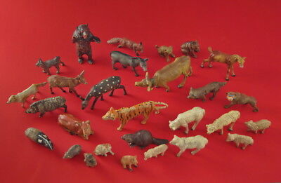 ❤❤❤ Konvolut Tiere aus Masse  28 Stück - ALT (# 8477) ❤❤