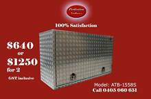 Heavy duty square edge 150x55x85 aluminium checkerplate toolbox Everton Hills Brisbane North West Preview