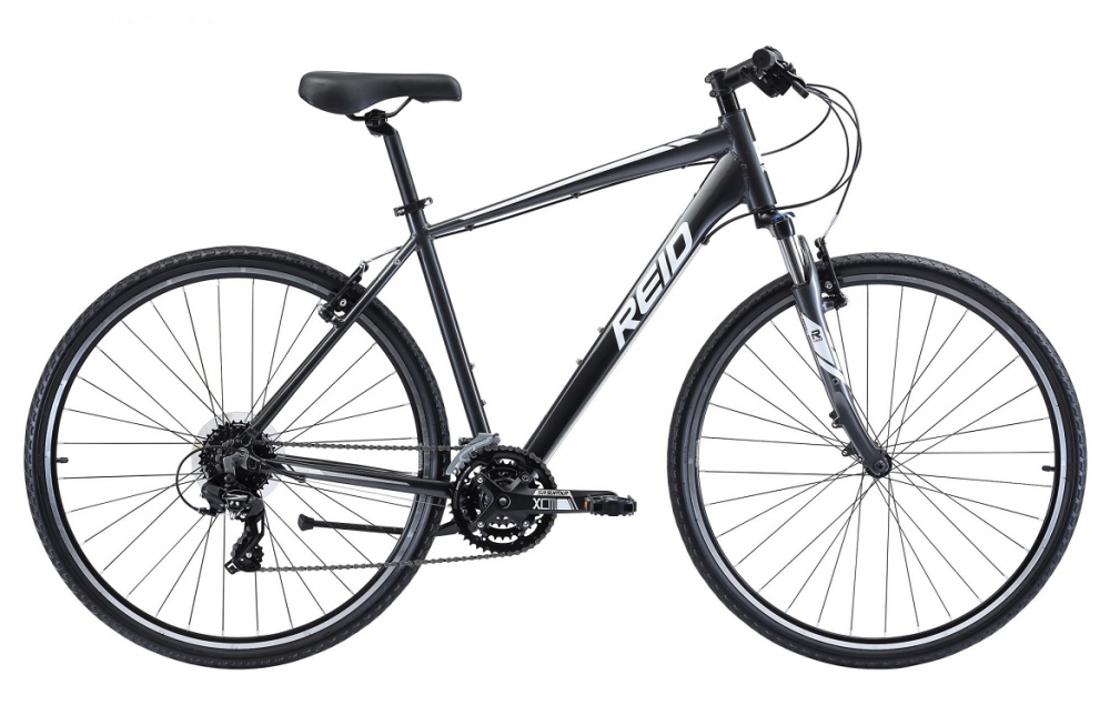 Reid City 2 (Charcoal/White) 48cm Small 700c Mens Commuter Bicycle