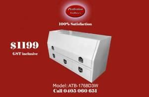 New white powder coated aluminium tool box with 3 drawer