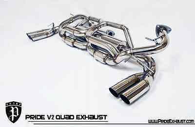 PRIDE EXHAUST ACURA NSX V2 QUAD Tips F1 Exotic Tone Perfomance Catback System
