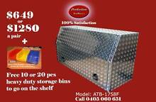 New ATB-1758F full door open aluminium checkerplate toolboxes Everton Hills Brisbane North West Preview