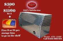 New 1558F full open door aluminium checkerplate toolbox Everton Hills Brisbane North West Preview