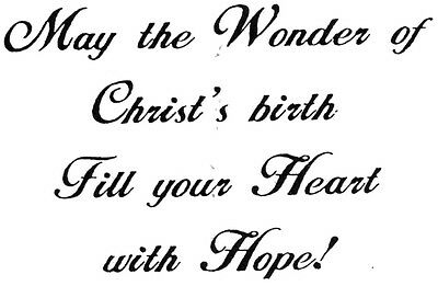 Unmounted Rubber Stamps, Christian, Biblical, Christmas Cards, Nativity, Sayings ()
