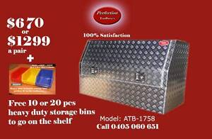 New 1700x530x820 high side aluminium checkerplate toolboxes Brisbane City Brisbane North West Preview