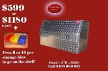 New 1500x530x820 3/4 door aluminium checkerplate toolboxes Everton Hills Brisbane North West Preview