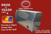 New 1600mm long full open door aluminium checkerplate toolboxes Everton Hills Brisbane North West Preview