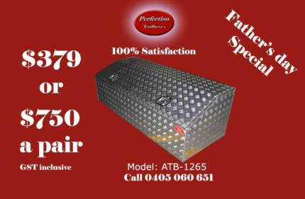 New low profile 1200x600x500 aluminium checkerplate toolboxes Everton Hills Brisbane North West Preview