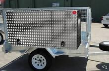 Aluminium checkerplate toolbox 2100x300x800 for box trailer Everton Hills Brisbane North West Preview