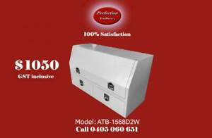 New powder coated white high side tool box with 2 large drawers