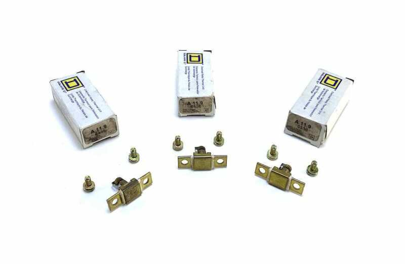 Square D A11.9 Overload Relay Thermal Units (Set of 3) (New Sur.)
