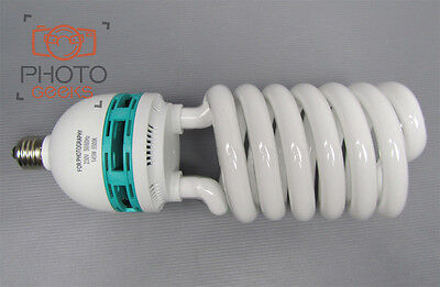 2x100w E27 5500k Fluorescent Spiral Bulb Lamp White Photograph Edison Daylight