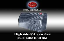 New high side 3/4 open door aluminium checkerplate toolboxes Everton Hills Brisbane North West Preview