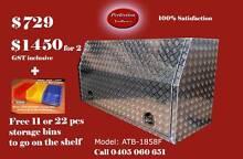 New 1800x530x820 full open door aluminium checkerplate toolboxes Everton Hills Brisbane North West Preview
