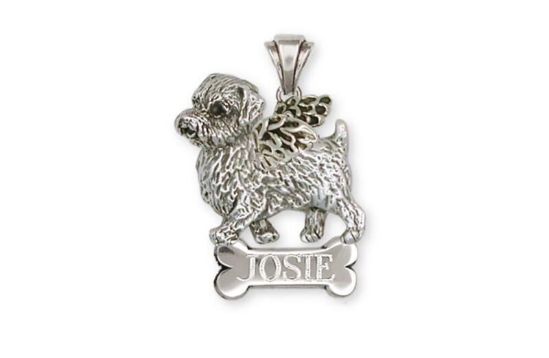 Norfolk Terrier Angel Pendant Jewelry Sterling Silver Norfolk Terrier Angel Char
