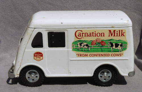 1950s TONKA TOYS Carnation Dairy Milk Truck-Van Advertising Sign Panels ALL-ORIG