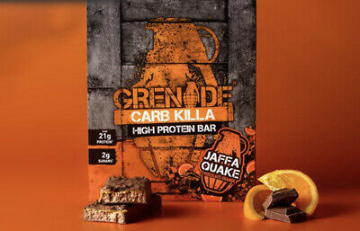 Grenade Carb Killa High Protein Bar Jaffa Quake 12x 60g Full Case Fitness & Gym
