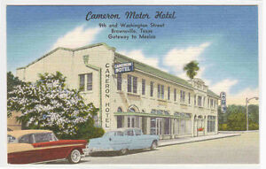 Cameron Motor Hotel Cars Brownsville Texas Postcard Ebay