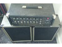 Rare Vintage Peavey PA-200 Mixer Amp & Speakers