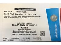 1x Standing ticket for Beyonce and Jay Z OTR 2 tour