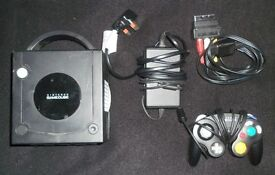 Nintendo Gamecube Console Black with two games.