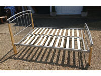 Bed base small double £40 - wood/metal - optional mattress