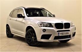 BMW X3 2.0 SDRIVE18D M SPORT 5d 141 BHP (silver) 2013