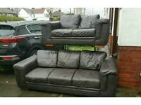 Leather sofa 3+2 ( free delivery )