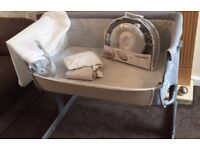 Chicco next to me grey circles limited edition crib